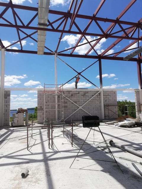 """Комплекс работ по огнезащитной обработке металлических конструкций на объекте """" Школа нового поколения """"IQANAT"""" г. Щучинск / 2020г."""