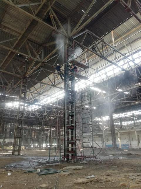 Комплекс работ по антикоррозийной и огнезащитной обработке поверхностей металлических конструкций на объекте: «Реконструкция корпуса цветного... 3