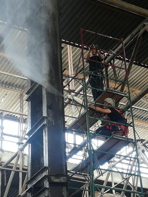 Комплекс работ по антикоррозийной и огнезащитной обработке поверхностей металлических конструкций на объекте: «Реконструкция корпуса цветного литья» г. Костанай/ 2020г.