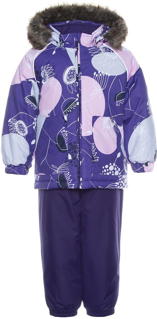 Детский комплект Huppa AVERY, лиловый с принтом/темно-лиловый