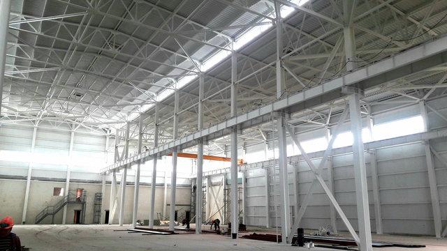 Огнезащитное покрытие металлоконструкций строящегося сервисно-технического центра г. Караганда /2020г. -1