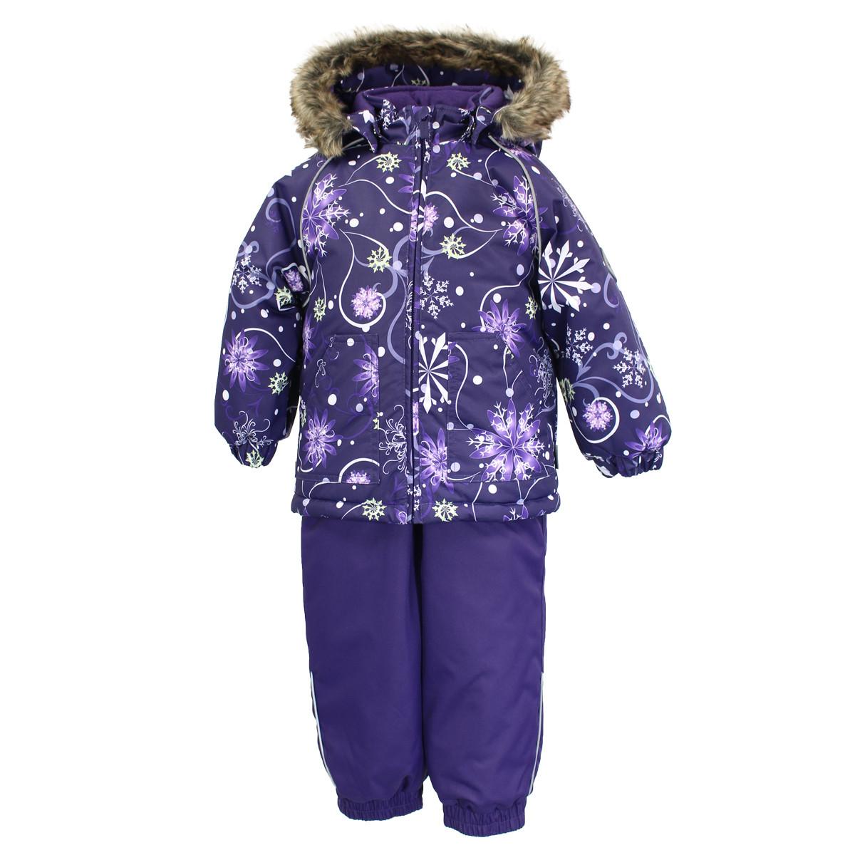 Детский комплект Huppa AVERY, лиловый с принтом/темно-лиловый - 98