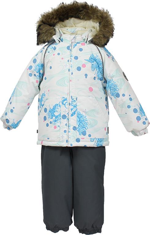 Детский комплект Huppa AVERY, белый с принтом/темно-серый