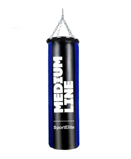 Мешок боксерский SportElite MEDIUM LINE 60см, d-26, 15кг, сине-черный