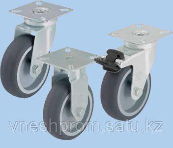 Аппаратные ролики с крепёжной панелью, колесо с контактным слоем из термопластичной резины