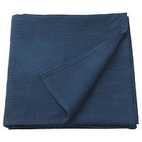Покрывало ИНДИРА темно-синий 230x250 см ИКЕА, IKEA, фото 1