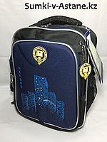 Школьный ранец для мальчика в 1-й класс.Высота 37 см,ширина 27 см, глубина 14 см., фото 1