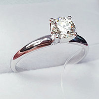 Сертификат GIA 0,50Сt VS2/M EX-Cut Золотое 585 пр. кольцо с бриллиантом, фото 1