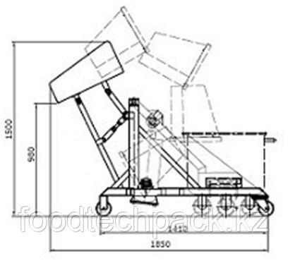 Гидравлическое устройство для наполнения вакуумного тумблера, 30.2104.10