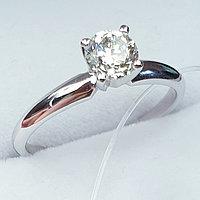 Сертификат GIA 0,50Сt SI1/M Good-Cut Золотое 585 пр. кольцо с бриллиантом, фото 1
