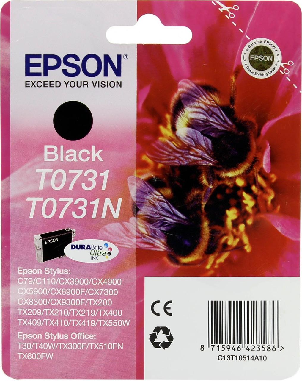 Картридж Epson C13T10514A10 0731 (Black, 245 стр)