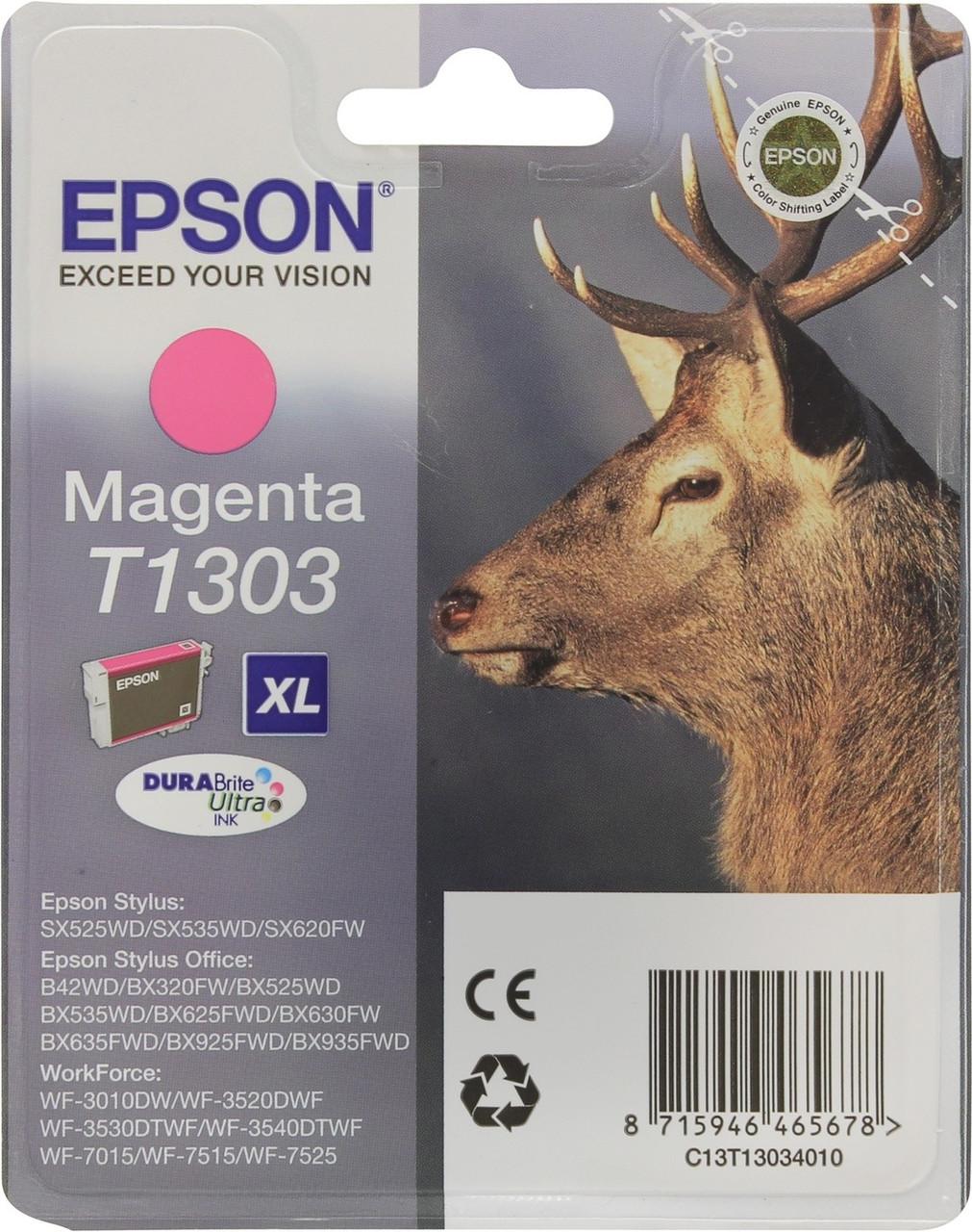 Картридж Epson T1303 (Magenta, 330 стр)