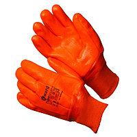 Перчатки утепленные трикотажные с оранжевым МБС покрытием, Gward Flame