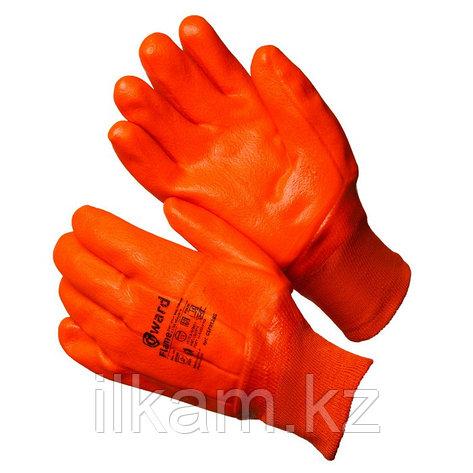 Перчатки утепленные трикотажные  с оранжевым МБС покрытием, Gward Flame, фото 2