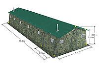 Армейская двухслойная палатка на 50 человек зимняя