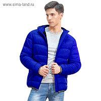 Куртка мужская, размер 48, цвет синий