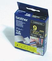 Лента TZ-324, золотым на черном, для принтеров Brother PT-1010,  PT-1280VP, PT-D200VP и пр.