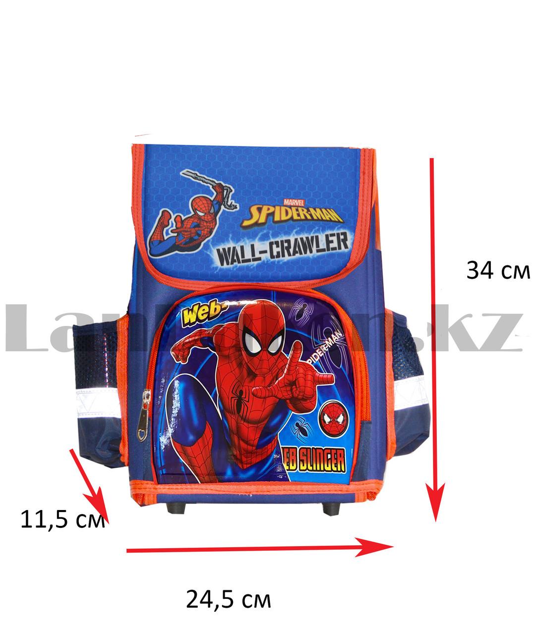Ранец трансформер (складной) с ортопедической спинкой и со светоотражателями Человек Паук (Spider man) - фото 2