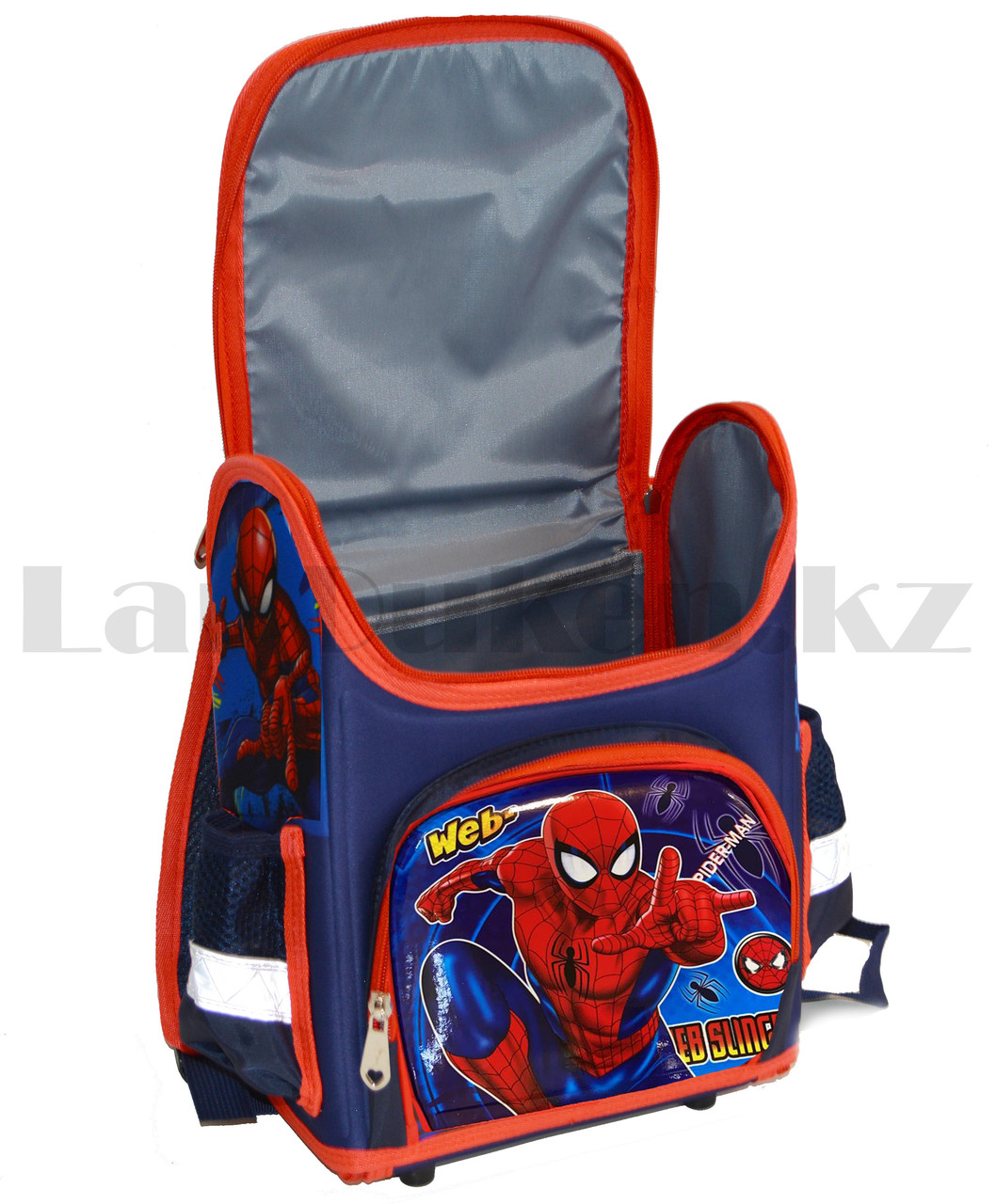Ранец трансформер (складной) с ортопедической спинкой и со светоотражателями Человек Паук (Spider man) - фото 4
