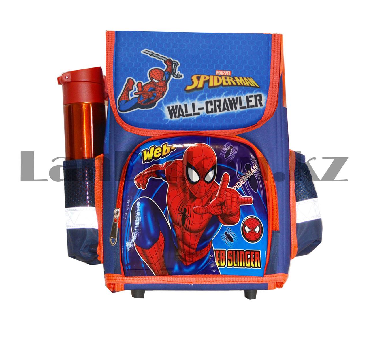 Ранец трансформер (складной) с ортопедической спинкой и со светоотражателями Человек Паук (Spider man) - фото 3