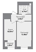 1 комнатная квартира в ЖК  Sezim Qala  37.13 м², фото 1