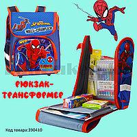 Ранец трансформер (складной) с ортопедической спинкой и со светоотражателями  Человек Паук (Spider man)