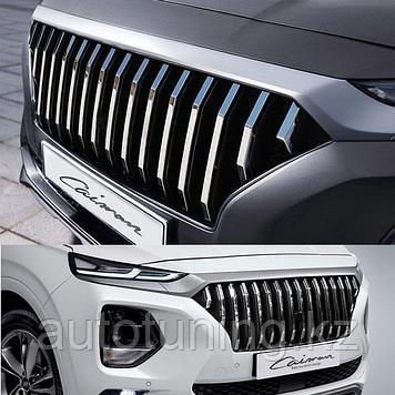 Решетка радиатора Caiman на Hyundai Santa Fe 4 2018+
