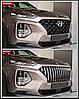 Решетка радиатора Caiman на Hyundai Santa Fe 4 2018+, фото 6