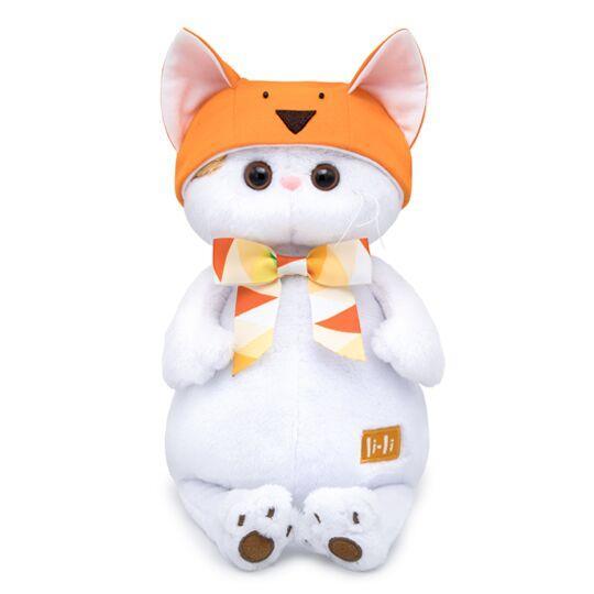 Мягкая игрушка Кошечка Ли-Ли в шапке лисичка, 24 см