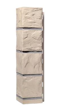 Угол Наружний Бежевый 470х115 Сланец Дачные FINEBER