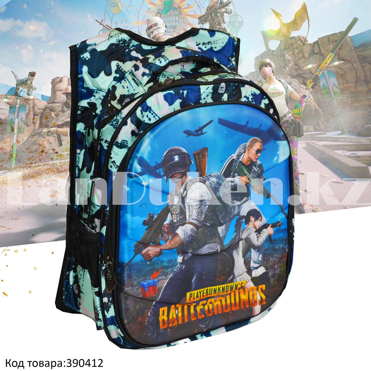 Рюкзак с ортопедической спинкой подростковый камуфляжный Battlegrounds 421 - фото 1