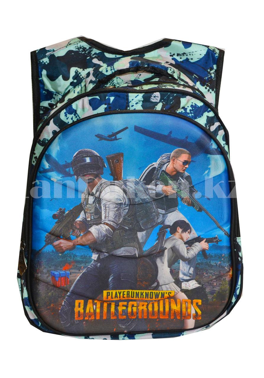 Рюкзак с ортопедической спинкой подростковый камуфляжный Battlegrounds 421 - фото 3