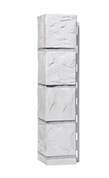 Угол Наружний Белый 470х115 Сланец ДАЧНЫЙ FINEBER