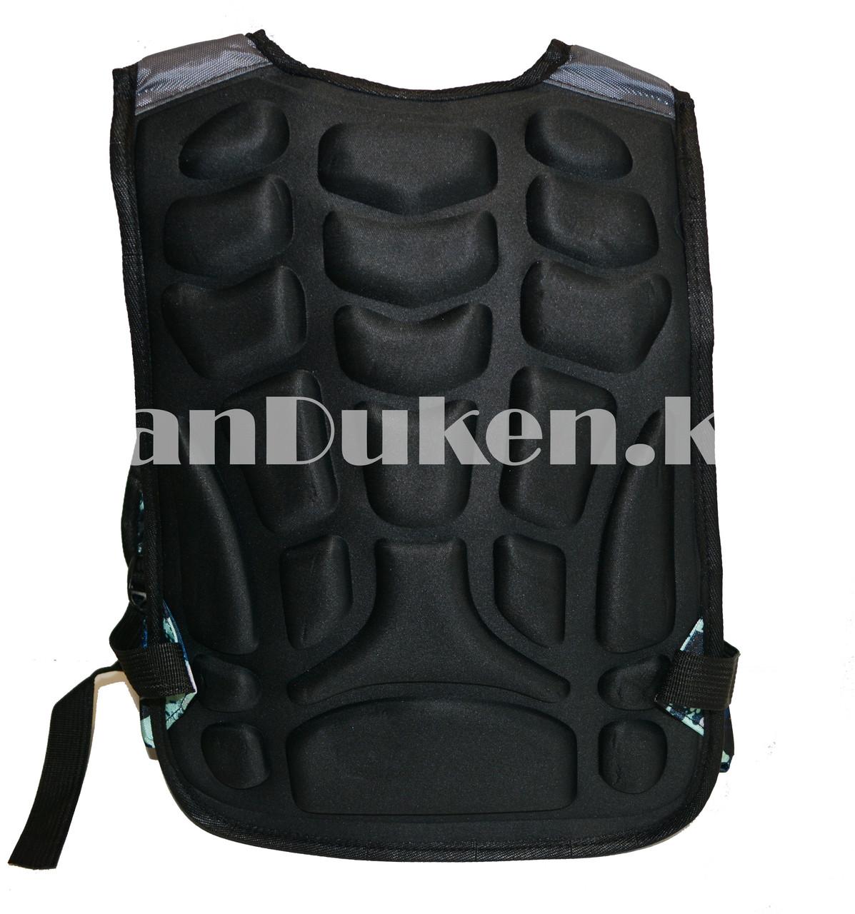 Рюкзак с ортопедической спинкой подростковый камуфляжный Battlegrounds 421 - фото 5