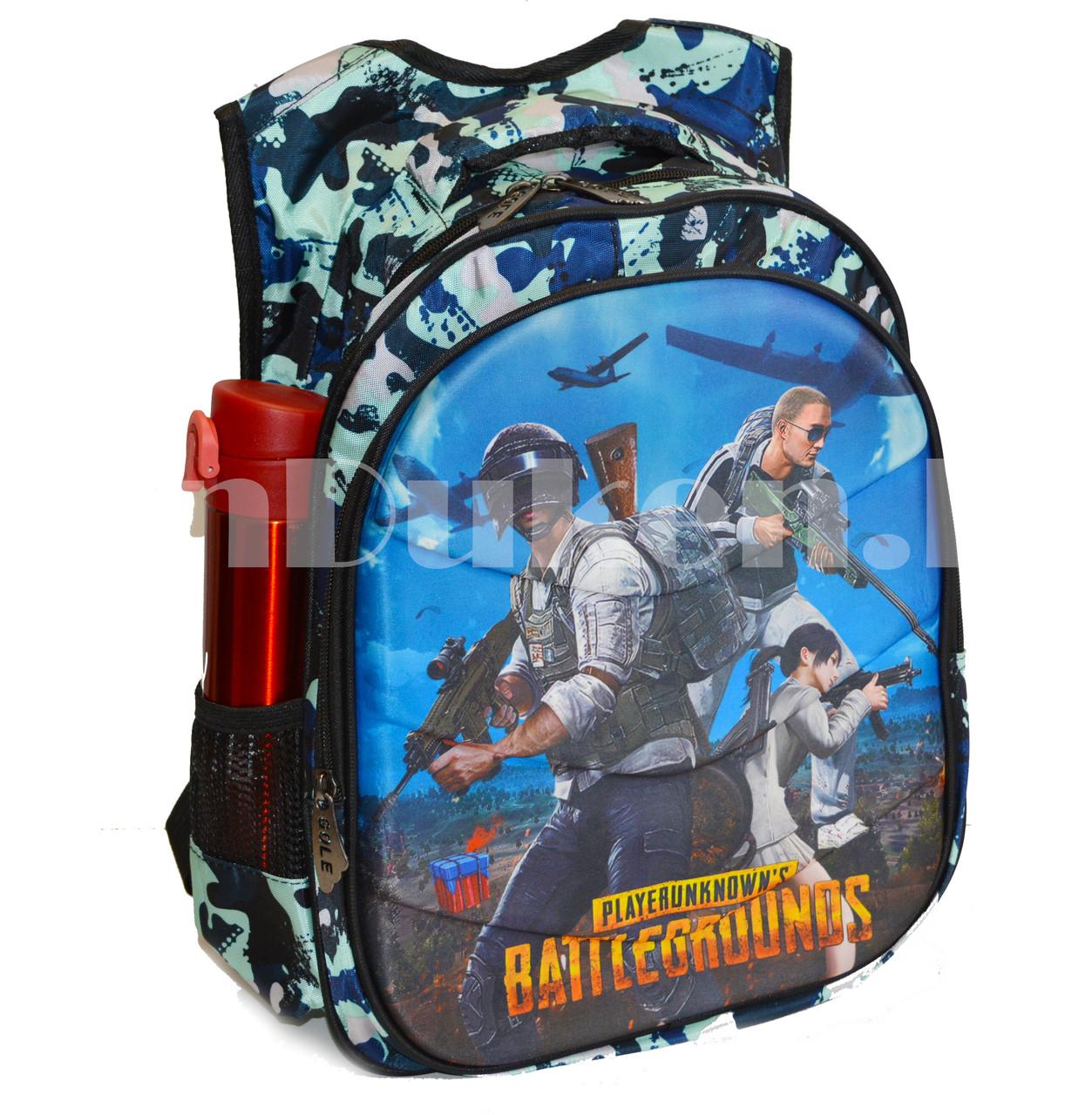 Рюкзак с ортопедической спинкой подростковый камуфляжный Battlegrounds 421 - фото 6