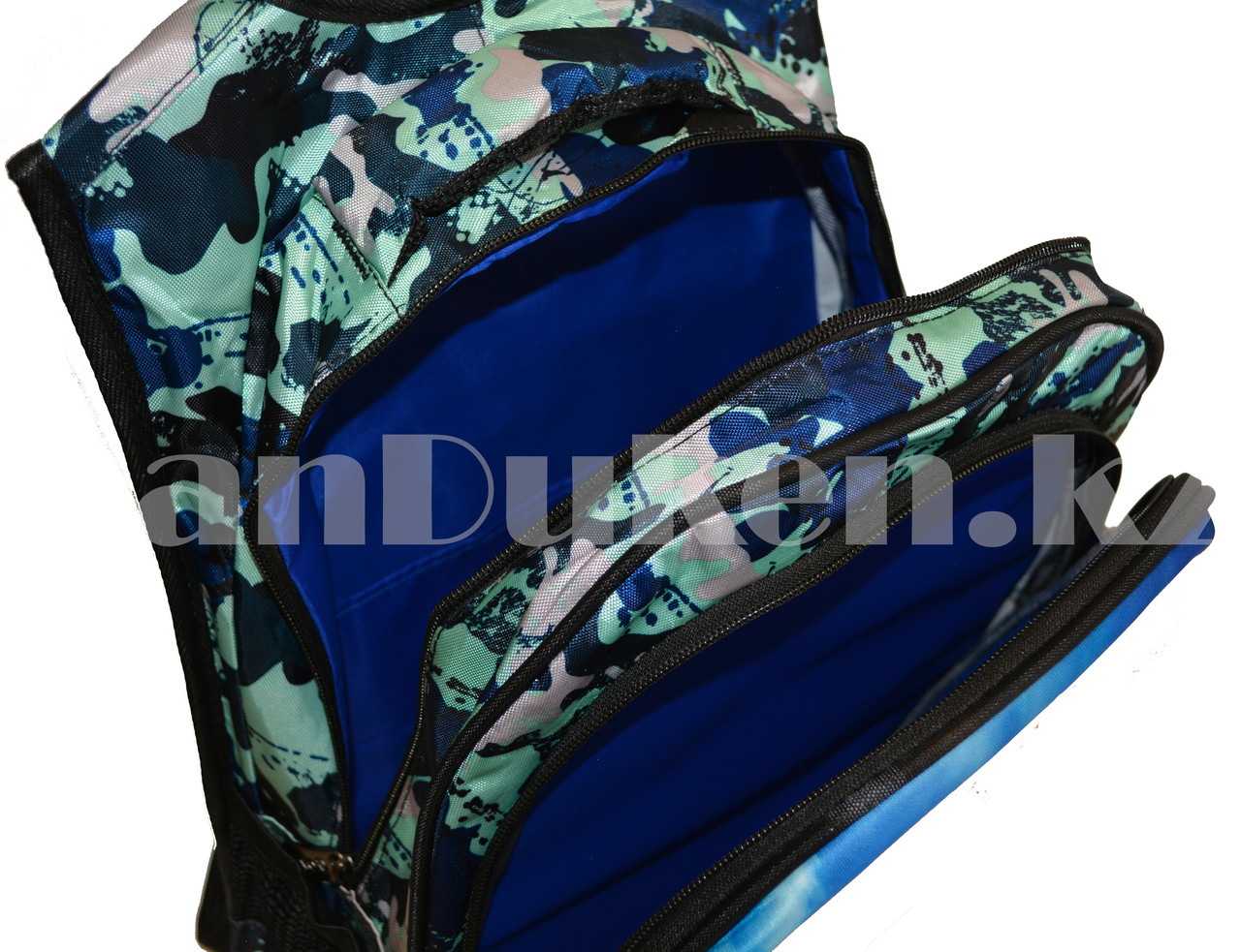 Рюкзак с ортопедической спинкой подростковый камуфляжный Battlegrounds 421 - фото 8