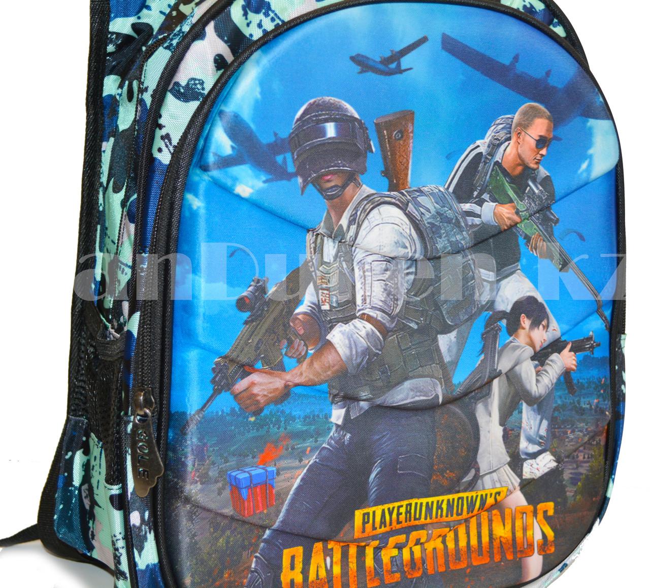 Рюкзак с ортопедической спинкой подростковый камуфляжный Battlegrounds 421 - фото 9