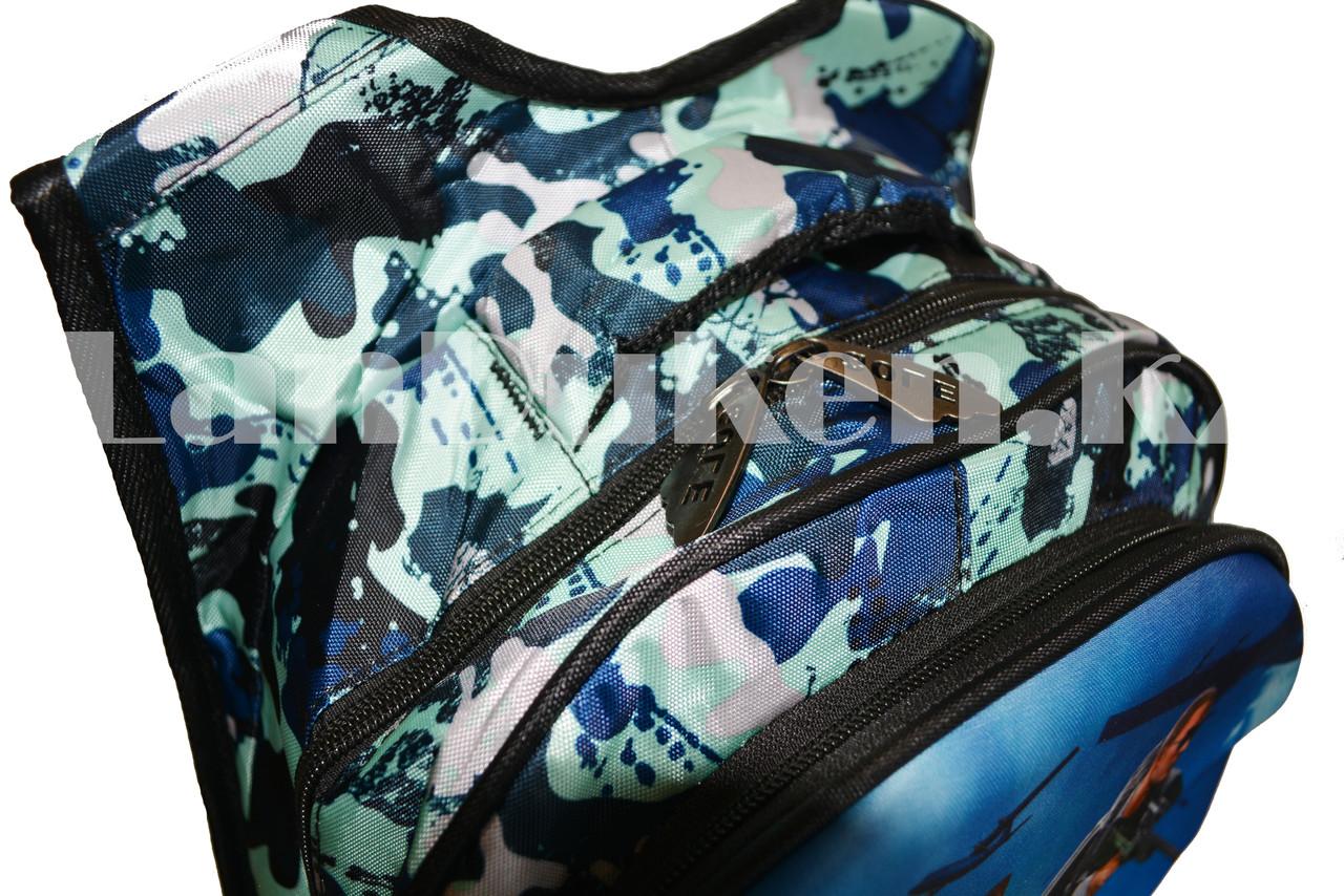 Рюкзак с ортопедической спинкой подростковый камуфляжный Battlegrounds 421 - фото 10