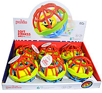RT779 Погремушка Youbeien Soft Fitness ball 6  шт, цена за 1шт 11 см, фото 1