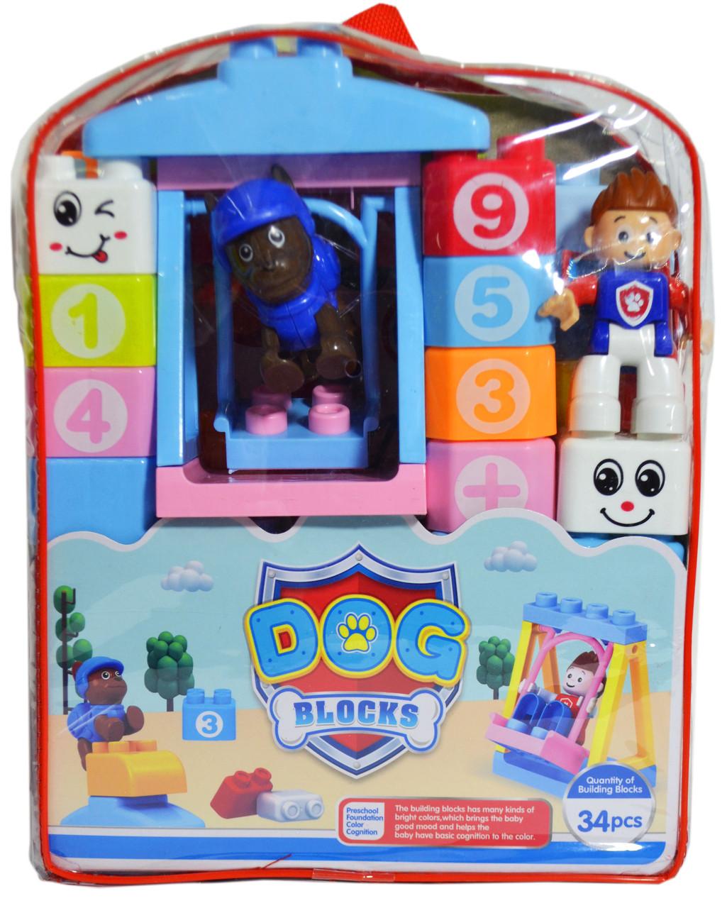818-21 Конструктор блок Dog blocks щенячий патруль 36 дет 26*20см