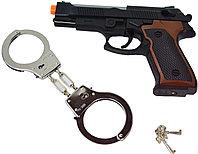 HSY-120 Полицейский набор Police с металл наручниками качественный 26*17см, фото 1