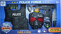 Немного помятая!!! HSY-032 Полицейский набор с бронежилет 9 аксесс. 60*34см