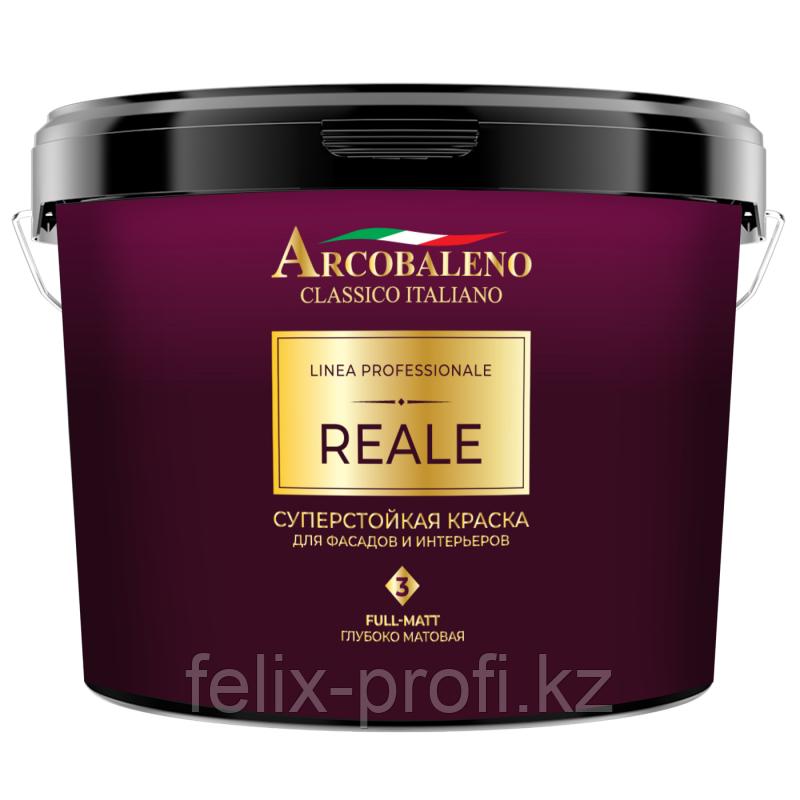 Краска для фасадов и интерьеров Аркобалено REALE 3,    9 л,