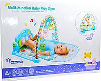 PA138 Коврик Multifunction baby play Gym 2 в 1 с пианино и дугой 46*33см
