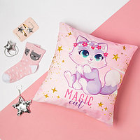 """Набор подарочный """"Magic cat"""" подушка-секрет 40х40 см и аксессуары (4 шт)"""