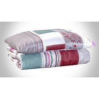 Комплект Дачный: одеяло 1,5сп, синтепон 100 гр/м + подушка 50х70 см, пэ 100%