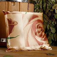 Подушка сувенирная, 22×22 см, мята, лаванда, шалфей, зверобой, роза чайная, микс