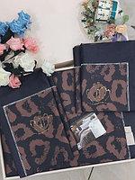 Комплект постельного белья двуспальный сатин LUX с леопардовым принтом