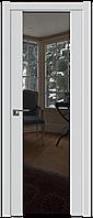 Дверь межкомнатная царговая 8U Аляска, Зеркальный триплекс, 600