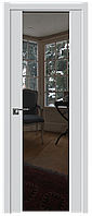 Дверь межкомнатная царговая 8U Аляска, Зеркальный триплекс, 900